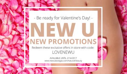 New U Beauty Salon Las Vegas Valentine's Day Promotions