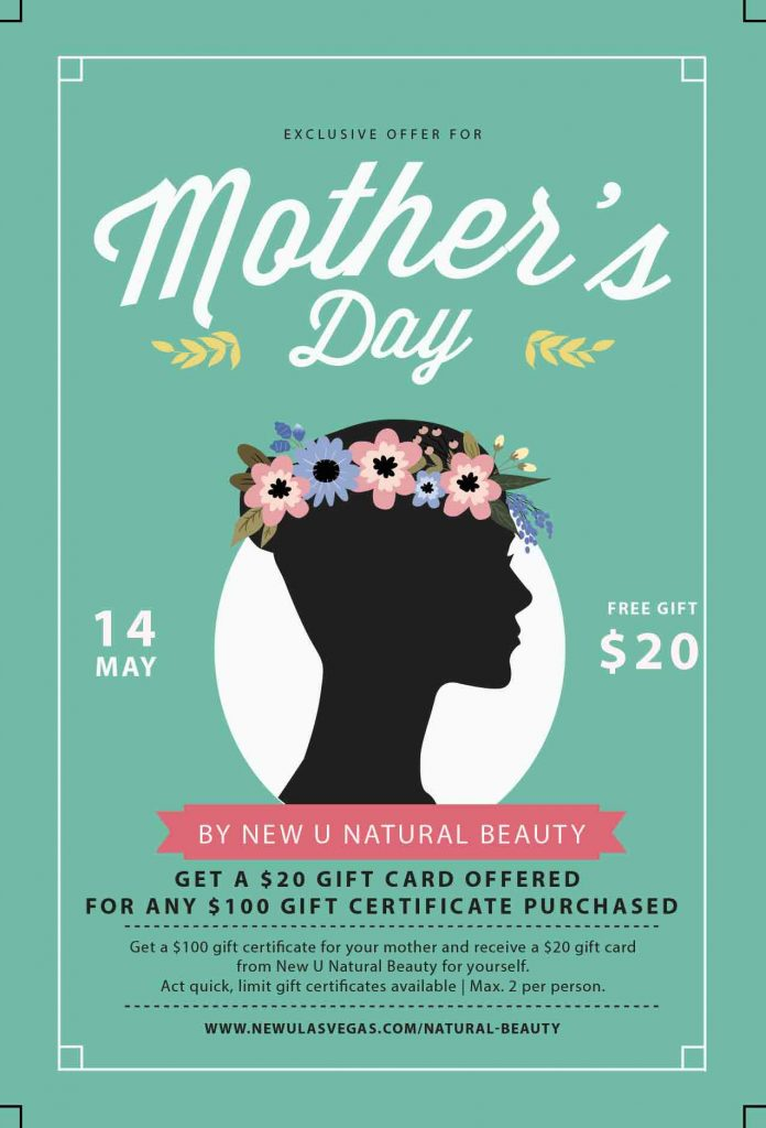 beauty spa mother's day gift card las vegas